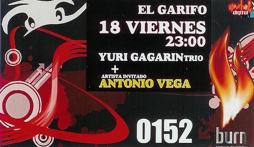 ENTRADA PARA EL CONCIERTO DE YURI GAGARÍN TRÍO + ANTONIO VEGA EN EL GARIFO DE BEMBIBRE: